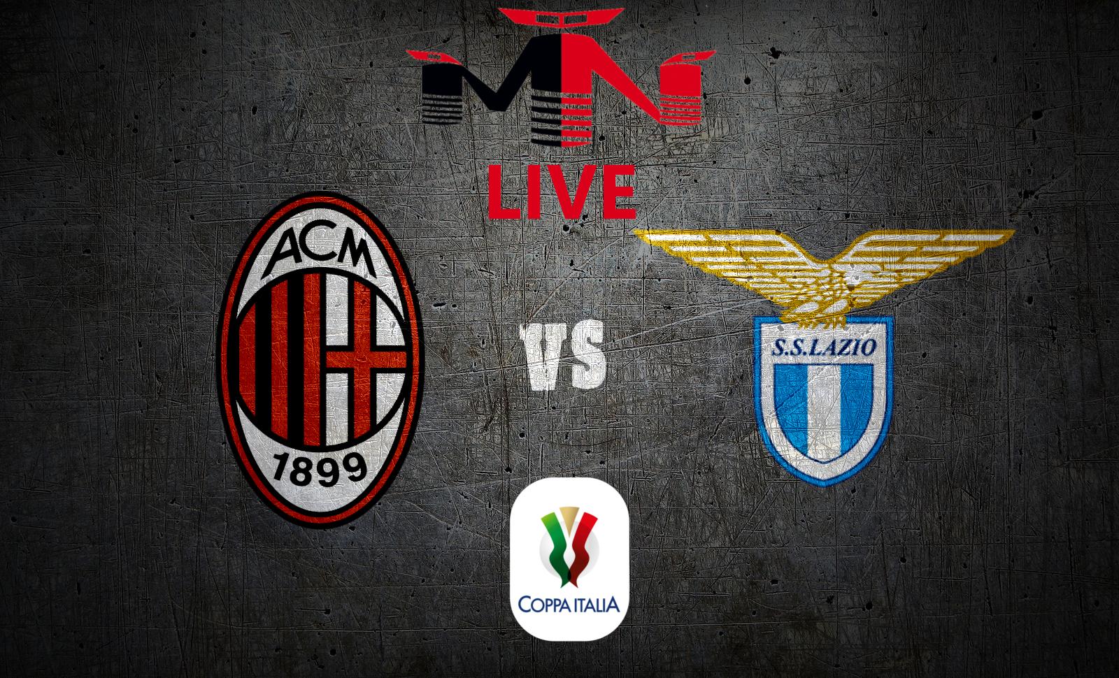Milan Lazio live Coppa Italia